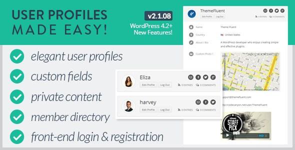 افزونه مدیریت کاربران User profile made easy 8