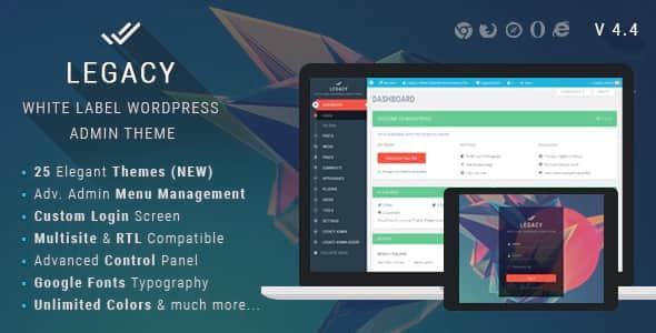 قالب مدیریت وردپرس Legacy 4.4 8