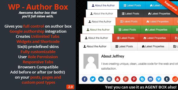 افزونه باکس نویسنده Author Box 2.0.7 3