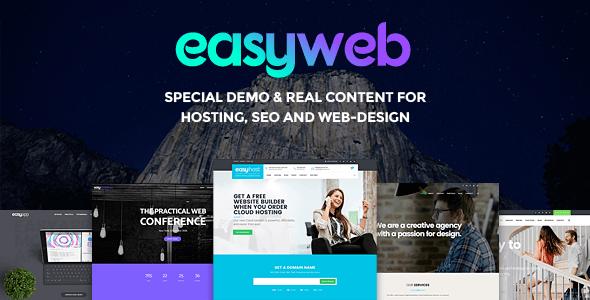 قالب شرکتی و خدمات آنلاین Easyweb 16