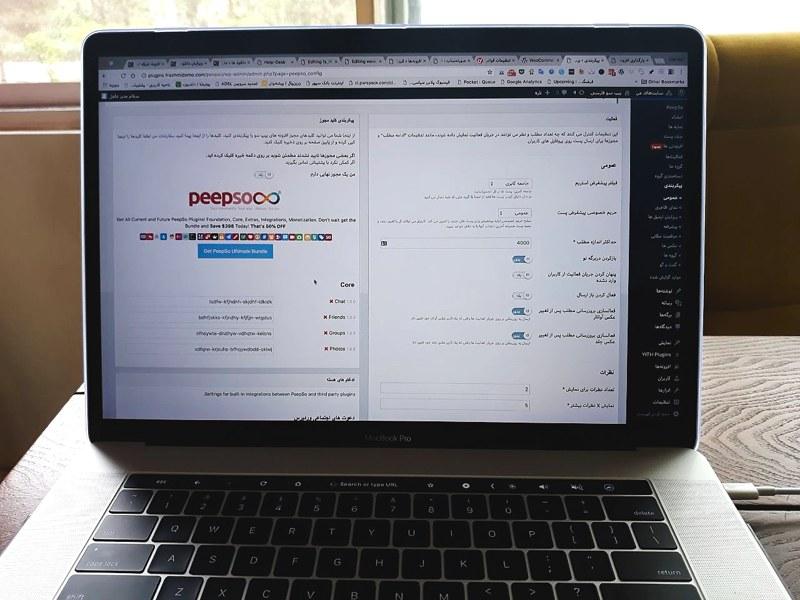 افزونه شبکه اجتماعی وردپرس پیپ سو |  Peepso Wordpress Plugin 3