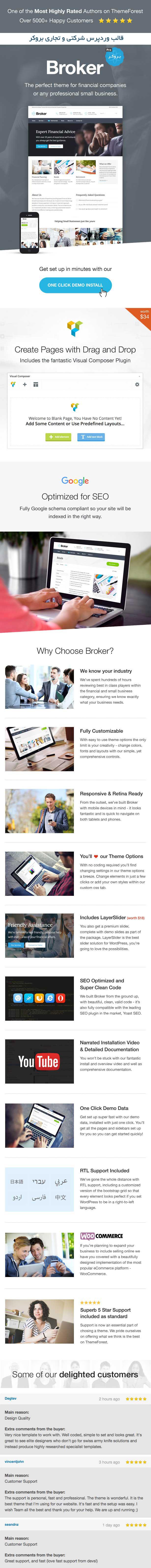 قالب شرکتی وردپرس بروکر | Broker Business Wordpress Theme 3