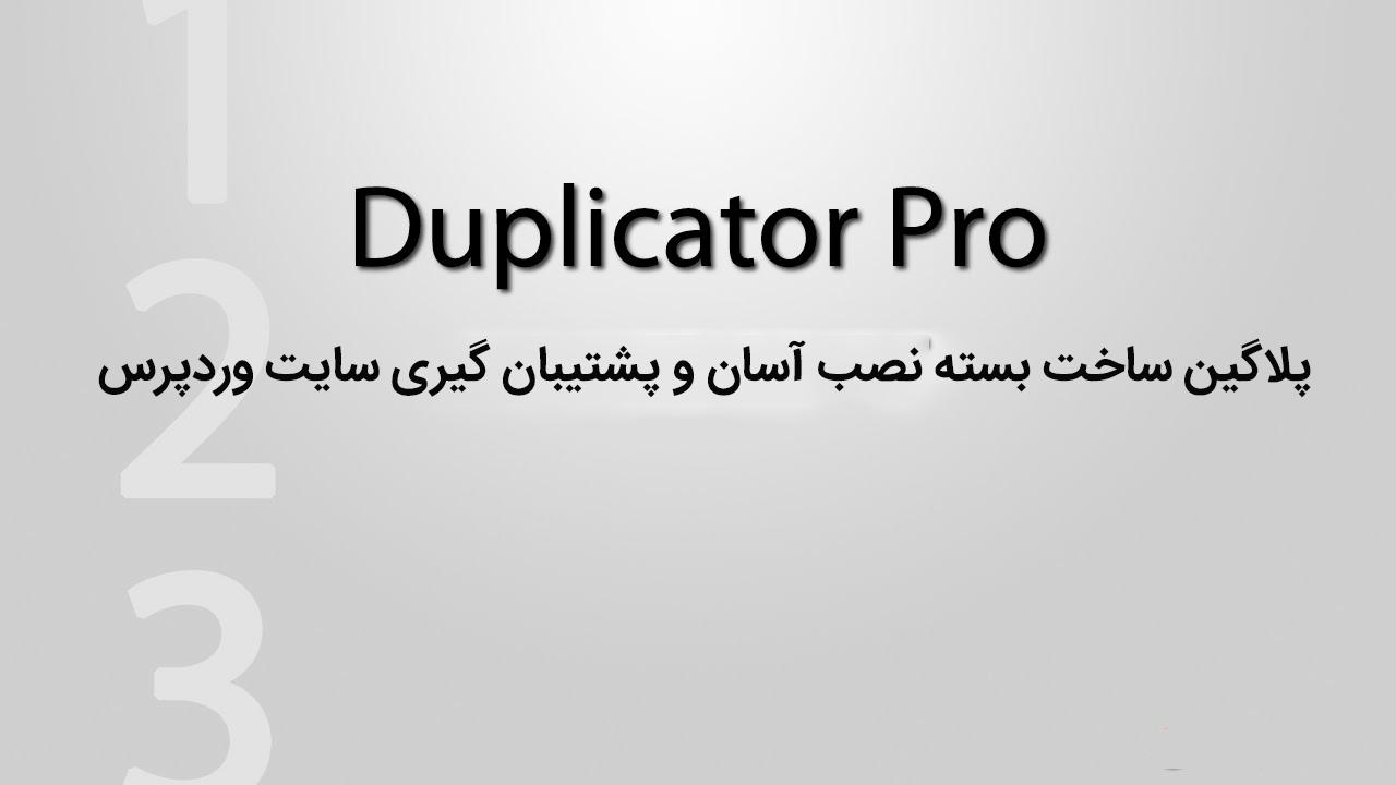 افزونه بکاپ گیری و انتقال سایت داپلیکیتور | Duplicator pro wordpress plugin 12