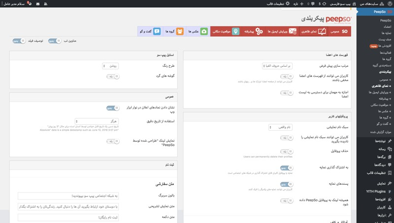 افزونه شبکه اجتماعی وردپرس پیپ سو |  Peepso Wordpress Plugin 9