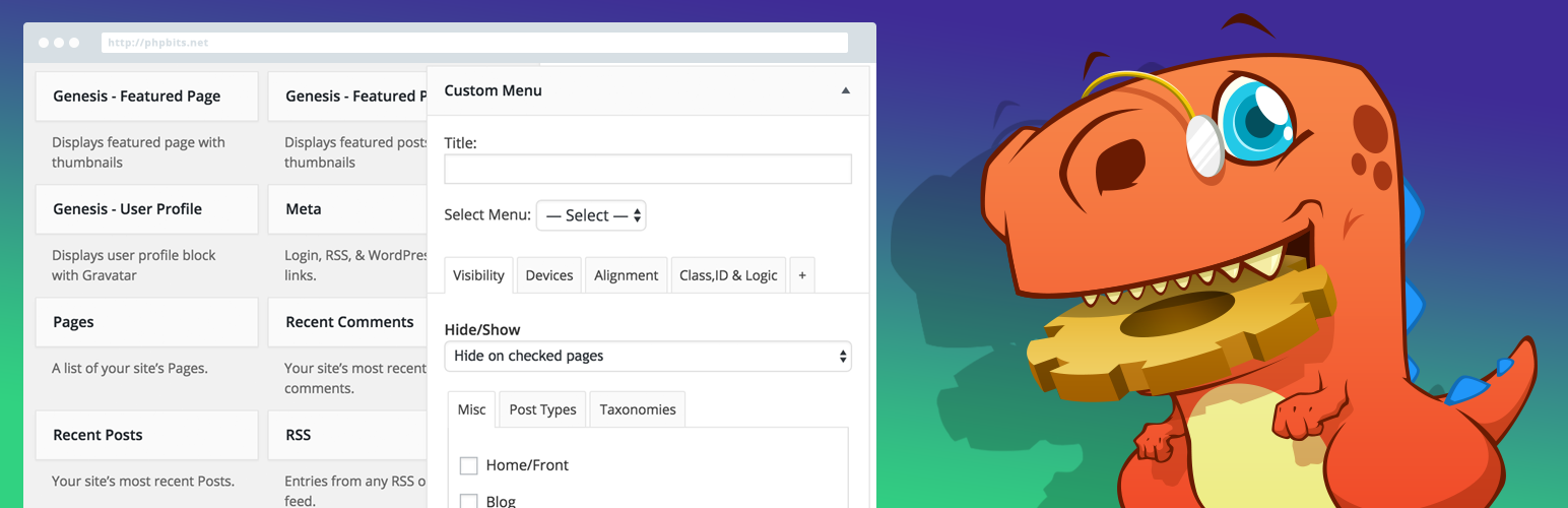 دانلود افزونه تنظیمات هوشمند ابزارک وردپرس | widget options 12