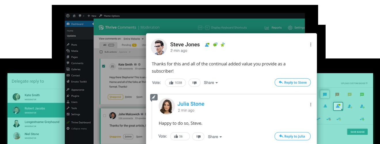 افزونه مدیریت نظرات وردپرس   Thrive Comments 5