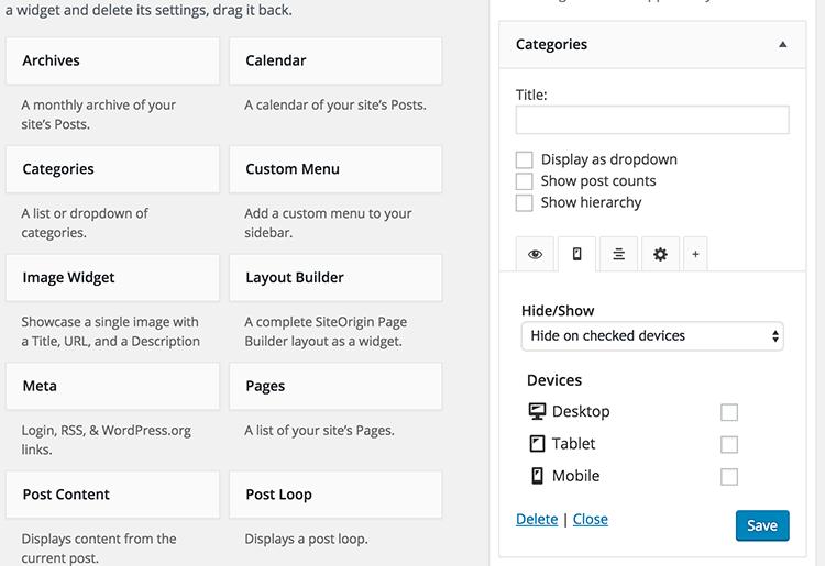 دانلود افزونه تنظیمات هوشمند ابزارک وردپرس   widget options 2