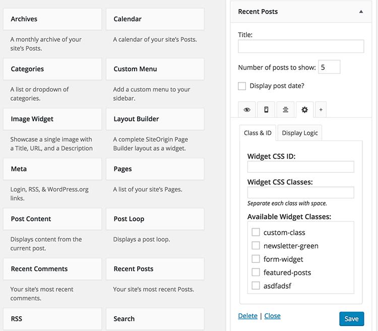 دانلود افزونه تنظیمات هوشمند ابزارک وردپرس   widget options 3