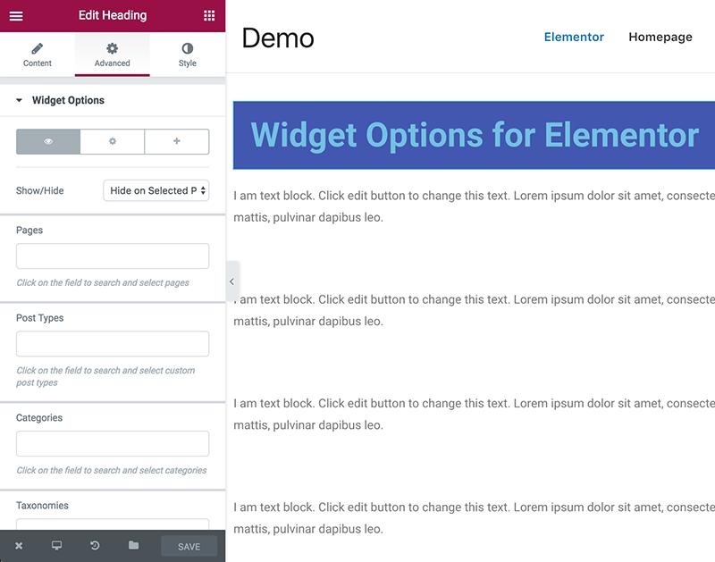 دانلود افزونه تنظیمات هوشمند ابزارک وردپرس   widget options 7