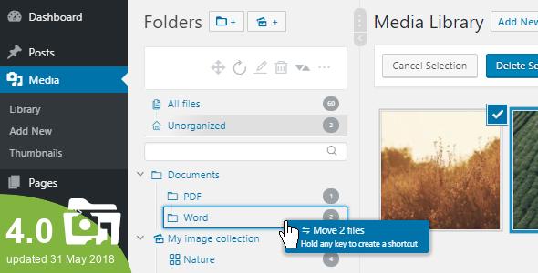 افزونه مدیریت فایل Wordpress Real Media library 2