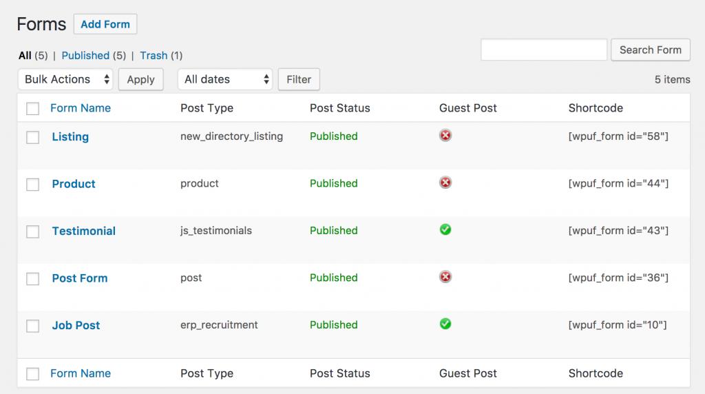 افزونه پیشخوان حرفهای کاربران وردپرس | WP User Frontend Pro 10