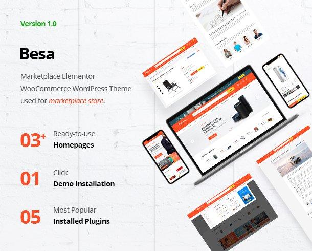 قالب چندفروشندگی ووکامرس بسا | Besa Multi-vendor Woocommerce Theme 1