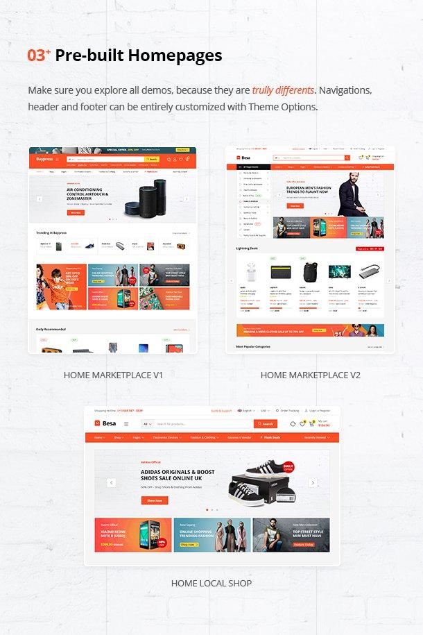 قالب چندفروشندگی ووکامرس بسا | Besa Multi-vendor Woocommerce Theme 4