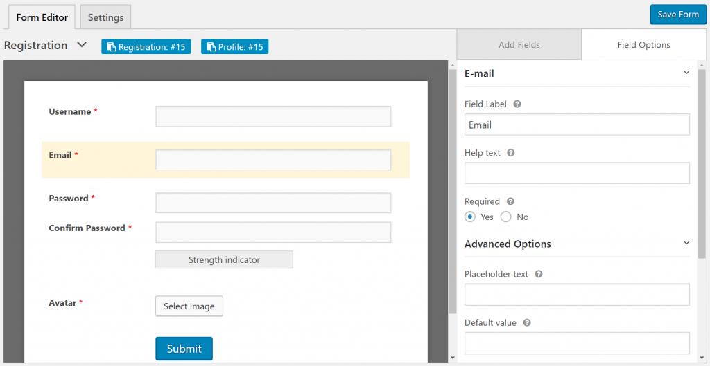 افزونه پیشخوان حرفهای کاربران وردپرس | WP User Frontend Pro 9
