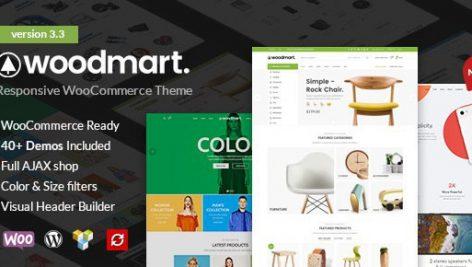 دانلود قالب فروشگاهی وودمارت | Woodmart woocommerce theme 4