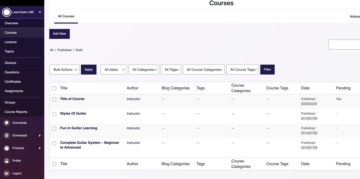 افزونه مدیریت مدرسان دوره برای لرن دش | Learndash instructor role Addon 3