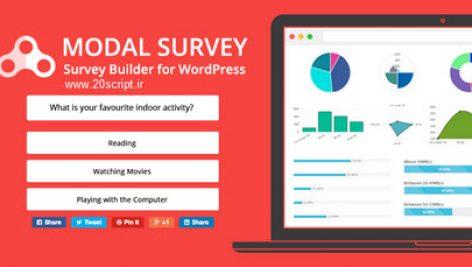 افزونه نظرسنجی مودال | Modal Survey