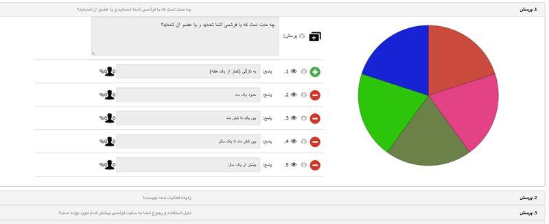 افزونه نظرسنجی مودال | Modal Survey 3