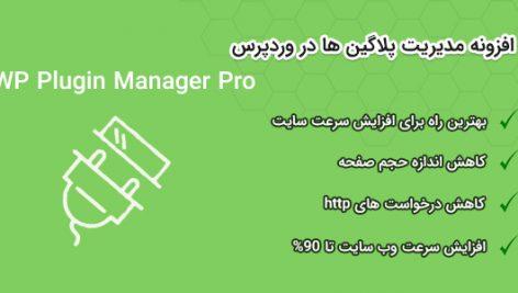 افزونه مدیر افزونه حرفهای وردپرس | WP Plugin Manager Pro 1