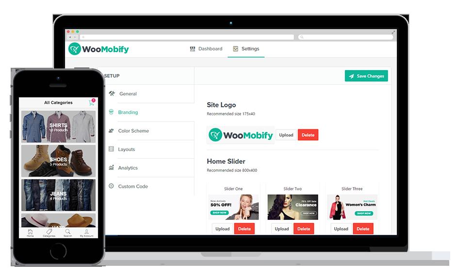 افزونه نسخه موبایل ووکامرس Woomobify 3