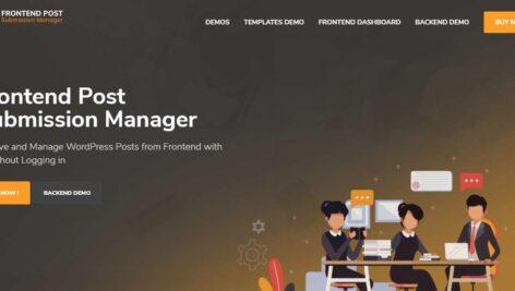 افزونه مدیریت ارسال پست فرانتاند | Frontend Post Submission Manager 1