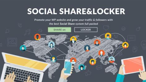 افزونه اشتراک گذاری اجتماعی و قفل محتوای Social Share and Locker 3