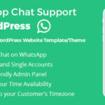 افزونه پشتیبانی واتس اپ برای وردپرس | Whatsapp Support